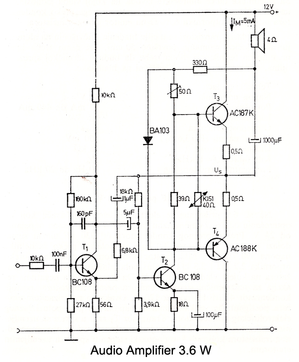 transistor amplifier diagram